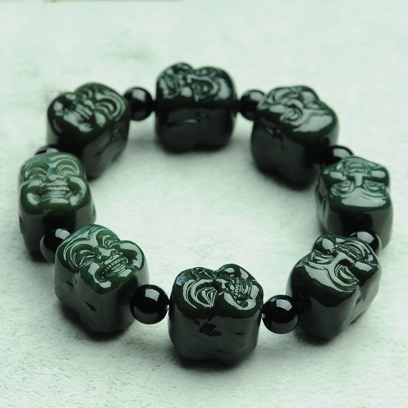 Kyszdl Genuine Natural Hetian Yu Stone Bracelet Men Buddha Head For Security And Peace Jewelry Gift In Strand Bracelets From Accessories