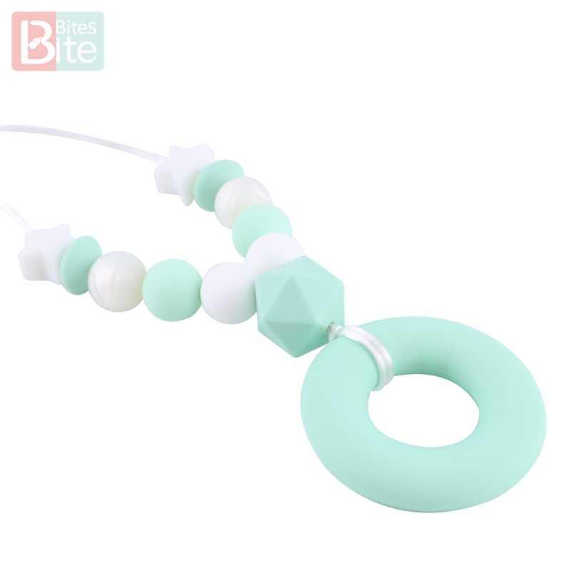 Кусачки 5 шт. силиконовый Прорезыватель для зубов Прорезыватель 40 мм пищевой силиконовый Бисер для ожерелья Товары для малышей Прорезыватель без BPA