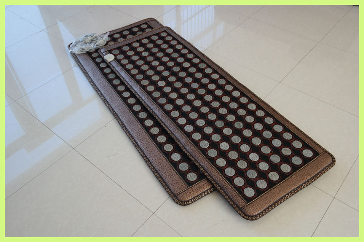 Korea Natural Jade Cushion Germanium Stone Tourmaline Heated Mat Jade Health Care Physical Therapy Mat 150x50cm Free Shipping best selling korea natural jade heated cushion tourmaline health care germanium electric heating cushion physical therapy mat page 9