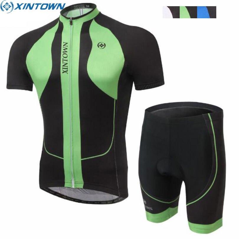XINTOWN Pro Team font b Mens b font Short Sleeve Ropa Ciclismo Bike Jersey Bib Shorts