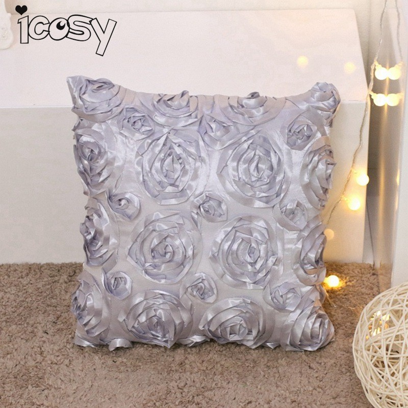 Чехлы 3D Роза полиэстер и плюшевая подушка чехол 43x43 см Home Decor Чехлы Декоративные наволочка 10D15