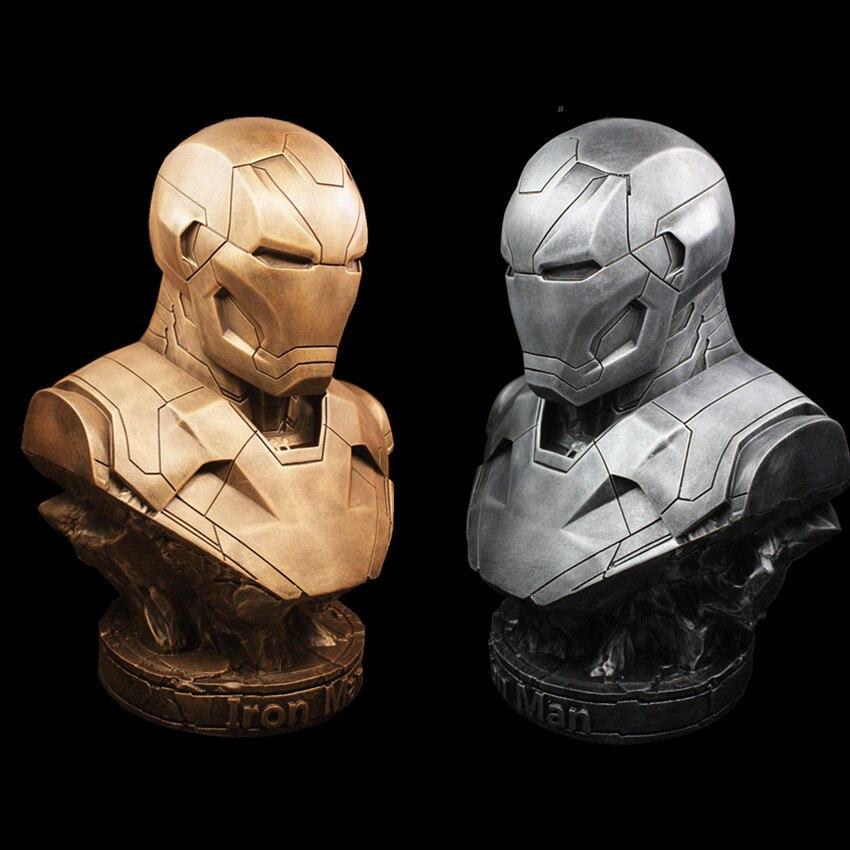 [Funny] 36cm The Avengers hero Iron man MK46 action figure resin figure statue toys Collection model bookshelves desk Ornaments cute resin little baby figure desk doll ornaments 4 figure set