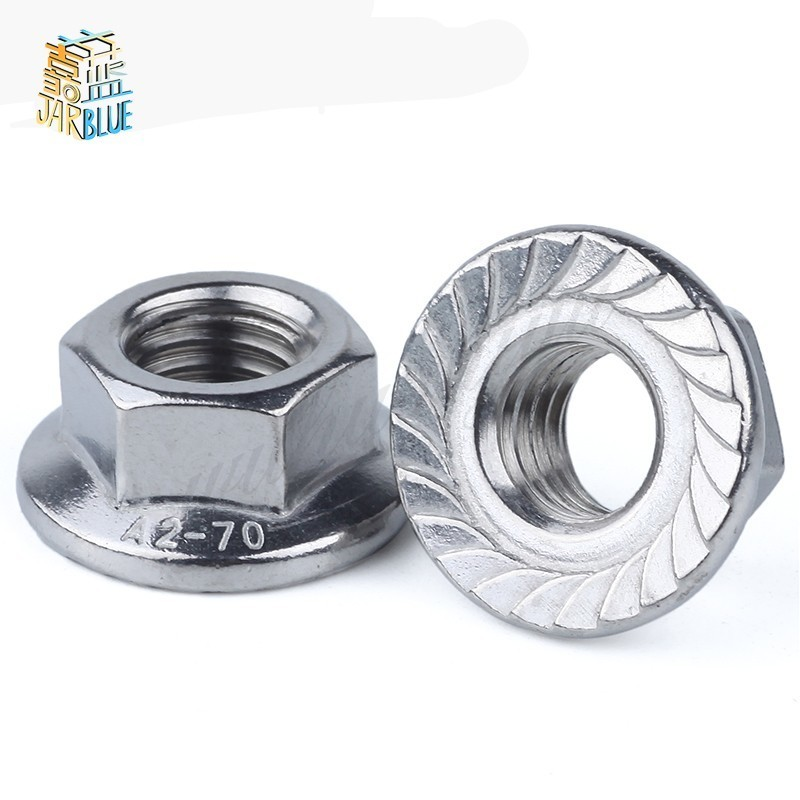 DIN6923 M3 m4 m5 m6 m8 m10 m12 Stainless Steel 304 hex flange Nut 10pcs din582 m3 m4 m5 m6 m8 m10 m24 304 stainless steel marine lifting eye nut ring nut thread hw108