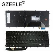 GZEELE جديد الخلفية لوحة مفاتيح DELL XPS 15 9550 9560 5510 M5510 RU الروسية DLM14L23SUJ442 0HPHGJ الأسود بدون إطار الخلفية