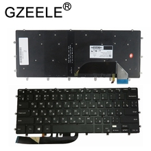 GZEELE New Backlit Keyboard For DELL XPS 15 9550 9560 5510 M5510 RU Russian DLM14L23SUJ442 0HPHGJ BLACK without frame backlight
