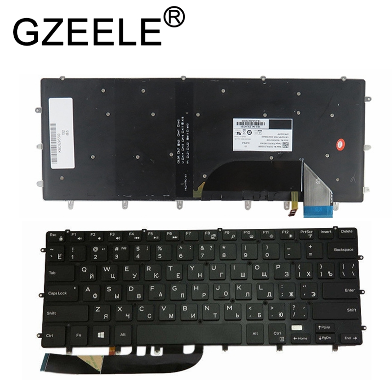 GZEELE New Backlit <font><b>Keyboard</b></font> For <font><b>DELL</b></font> XPS 15 9550 9560 <font><b>5510</b></font> M5510 RU Russian DLM14L23SUJ442 0HPHGJ BLACK without frame backlight image
