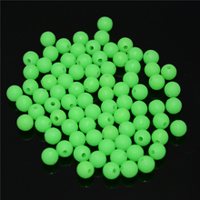 new arrived 500pcs/lot Luminous Beads 3mm 4mm 5mm Luminous Block Pearl Fishing Lure Accessoires Fishing Tackle free shipping