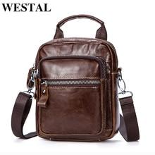 WESTAL Мужская сумка из натуральной кожи на плечо слинг поясная сумка маленькая плюшевый пояс Сумка мужская кожаная сумка через плечо