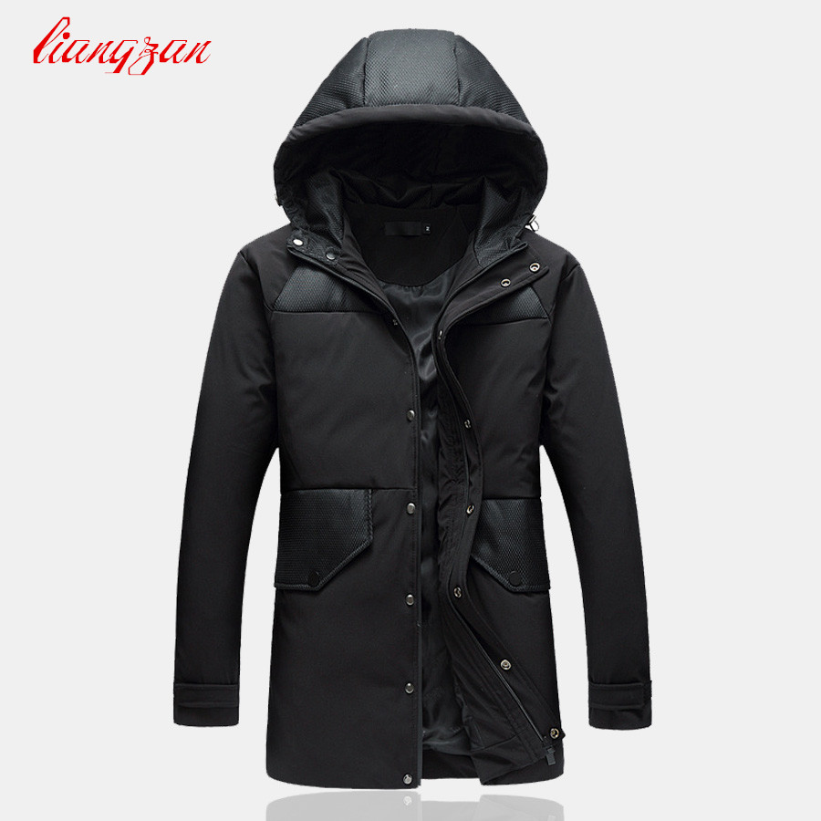 Men Winter Down Coats 90% White Duck Snow Warm Hooded Overcoats Brand Male Casual Slim Fit Plus Size M-5XL Jacket Parkas SL-K184