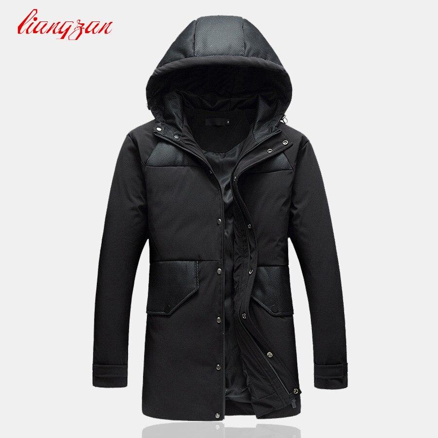Men Winter Down Coats 90% White Duck Snow Warm Hooded Overcoats Brand Male Casual Slim Fit Plus Size M-5XL Jacket Parkas SL-K184