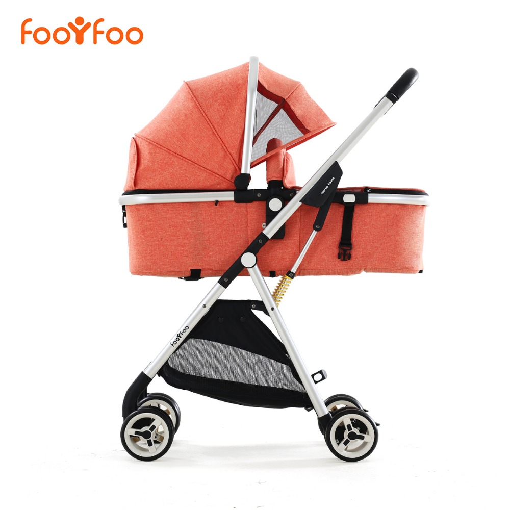 Baby stroller 2-in-1 model stroller European high landscape luxury baby strollers ultra-lightweight folding lightweight strollers aiqi ultra light white frame good quality baby stroller baby umbrellacar boarding stroller accessories