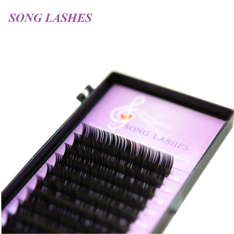SONG LASHES False Eyelash Extensions Soft Thin Tip D,CC,C and B curl 0.15mm thickness