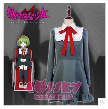 Free Shipping! Danganronpa Another Episode Monaka Full Set Daily Uniform Cosplay Costume ,Perfect Custom For You!