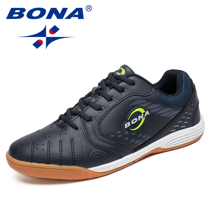 BONA New Classics Style Men Soccer Shoes Lace Up Men Professional Trainer Football Shoes Outdoor Jogging Sneakers Free Shipping-in Soccer Shoes from Sports & Entertainment    1