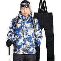 Professional Ski Suit Men Women Warm Winter Skiing Jackets Pants Waterproof Male Female Skiing Snowboarding Clothing