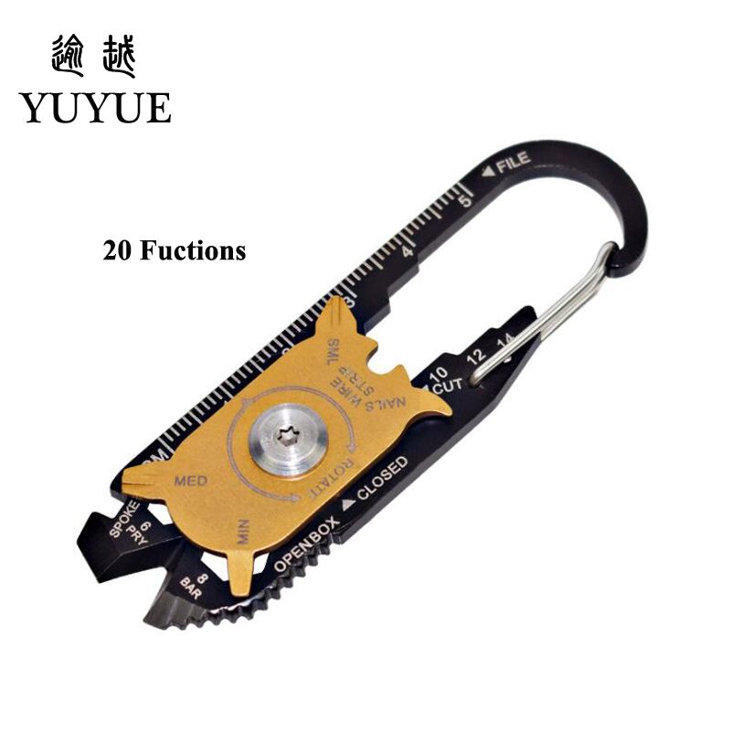 2018 Hot EDC Pocket Multi Tools For Outdoor Camping Equipment Tourism Survival Knife Tool Outdoor Survival Screwdriver Cutter  0