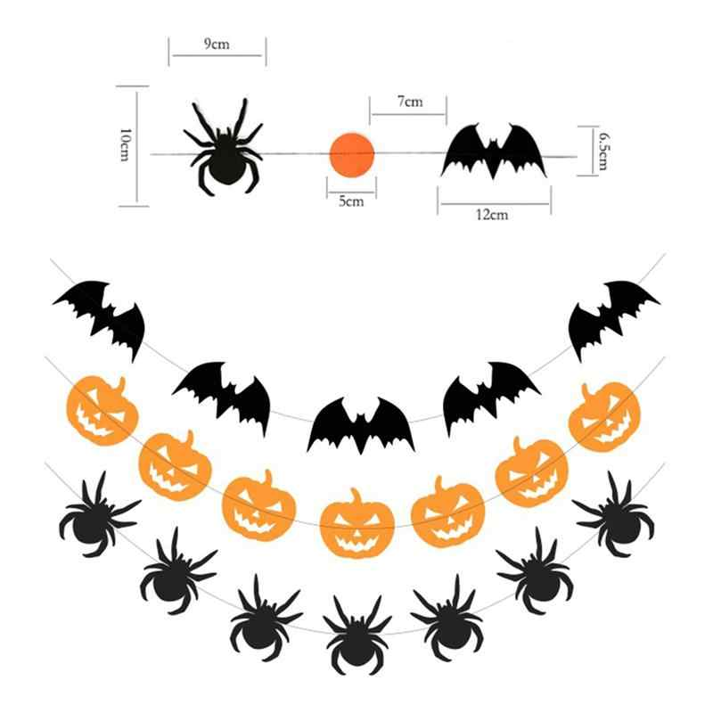 Pumpkin Spider Bunting Party Decoration