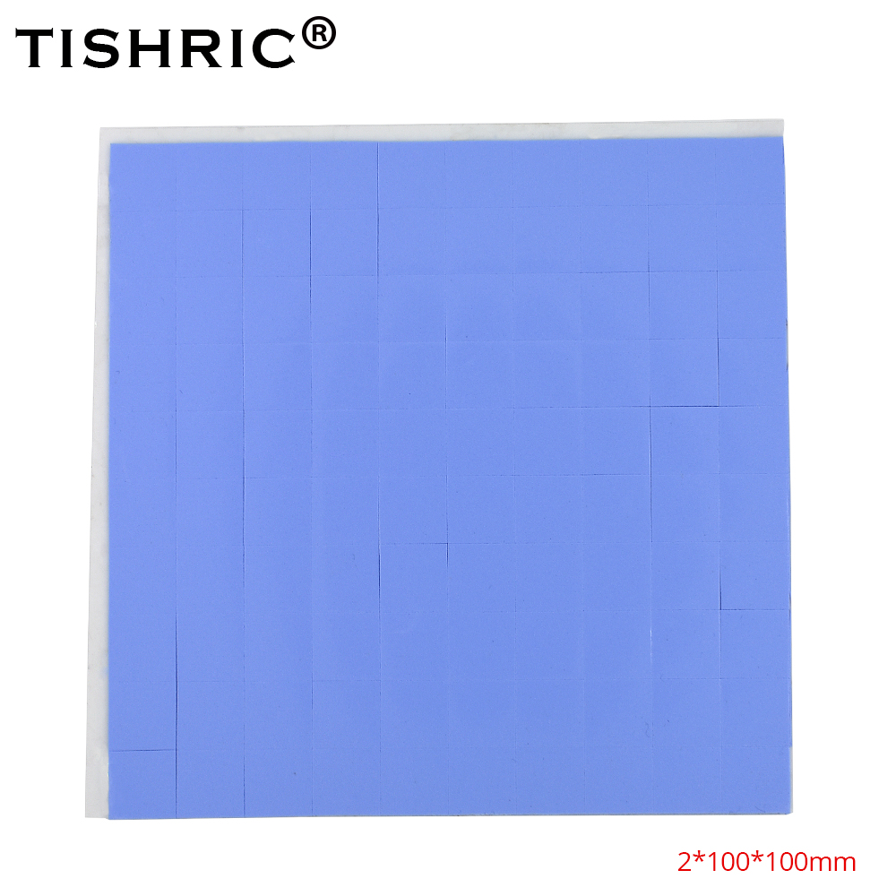 TISHRIC 2018 Heatsink Cooling Conductive Silicone Pad For Fan PC Computer Heat Sink Cooler CPU GPU Thermal Pads 2mm