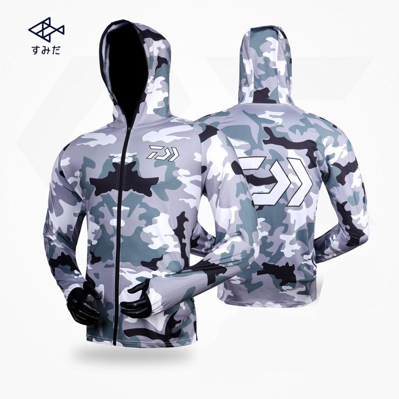 2018 nouveau style 4 couleurs Daiwa vêtements à manches longues séchage rapide pêche vêtements Anti-UV crème solaire pêche vêtements chemise de pêche