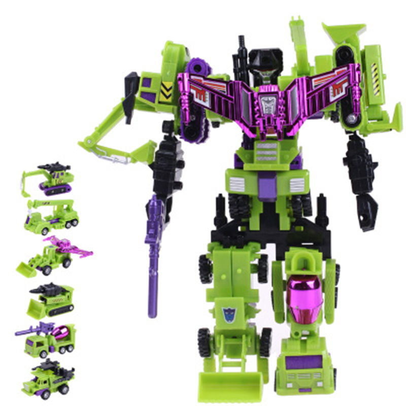 24cm Devastator Toys Transformation Robot Car Engineering Construction Vehicle Truck Deformation Kid Toys Christmas Gifts viruses cell transformation and cancer 5