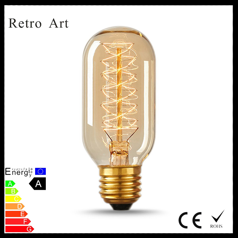 T45 radio Vintage Style Tungsten Filament Edison Lamp 40W E27