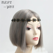 Acessories Para Cabelo Vintage Elastic Hair Head Band Headband Headwear Accessories Women Wedding Party Hairstyle Garland