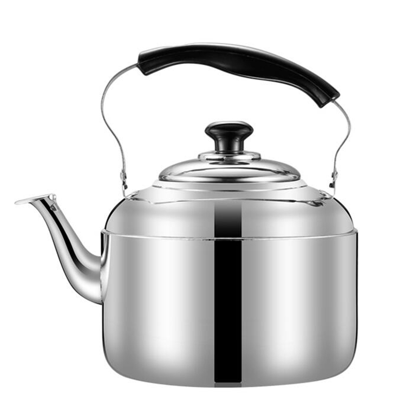 Stainless Steel <font><b>Kettle</b></font> Whistling Tea <font><b>Kettle</b></font> Coffee Kitchen Stovetop Induction for for home kitchen camping picnic <font><b>4L</b></font> 5L 6L image