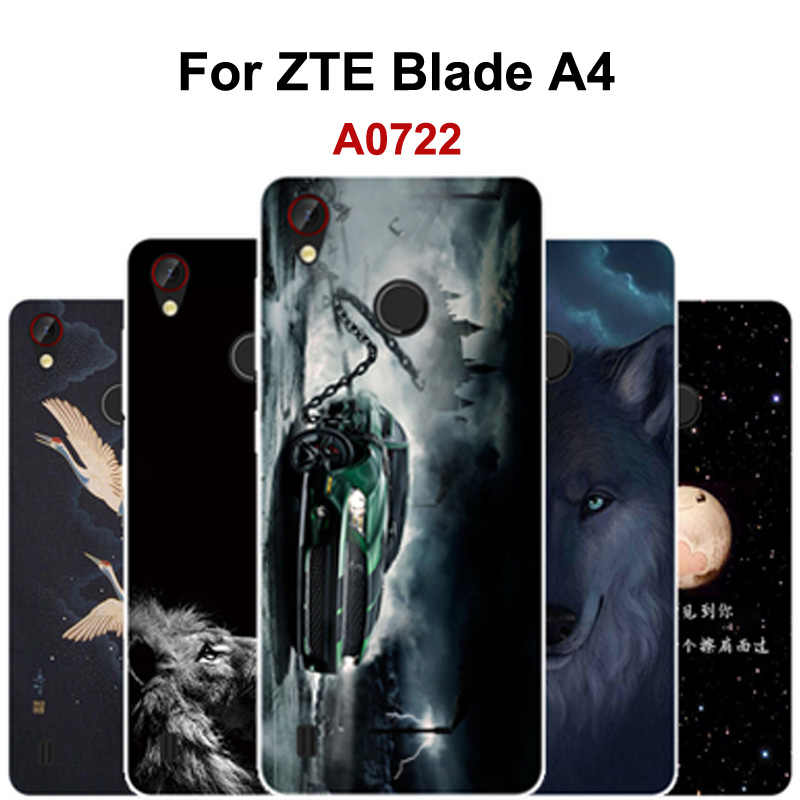 Fashion Soft Silicon Phone Cases For ZTE Blade A4 Case Painted cartoon Clear Cover For ZTE Blade A4 A 4 Case For A0722 shell