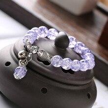 Hot hot bohemian crystal explosion beads national wind double fish bells handmade beaded bracelet elegant