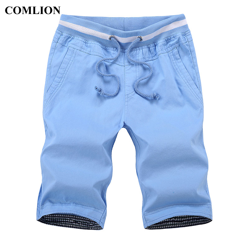 2018 New Brand COMLION Casual Shorts Men Summer Bottom Knee Length Short Leisure Fitness Breathable Shorts Cotton High Quality 6