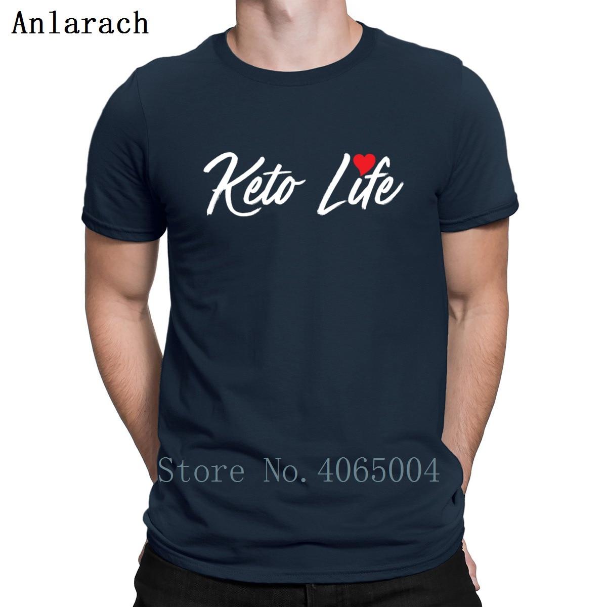 Keto Life Ketogenic Diet Funny Keto Hate Carbs T Shirt Spring Autumn Kawaii Kawaii Character Round Neck Fit Cotton Shirt