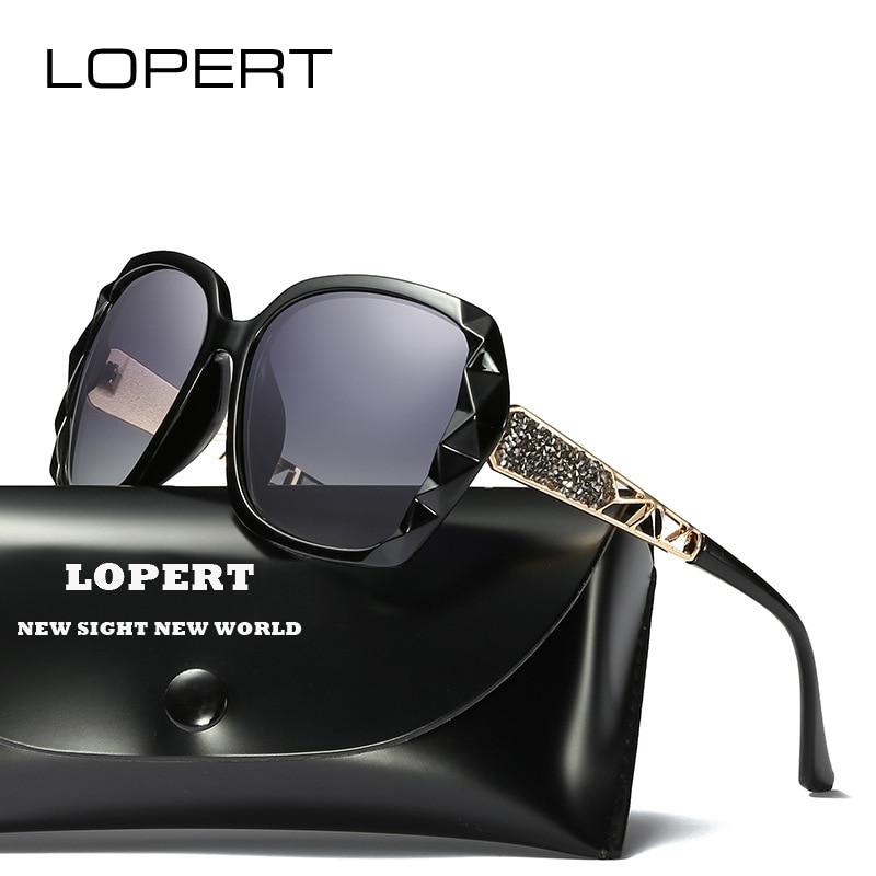 LOPERT Mode gepolariseerde Zonnebril Vrouwen Luxe Merk Designer Glazen Rijden Spiegel Zonnebril de sol feminino UV400