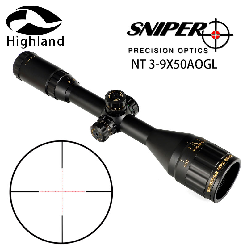 Hunting Rifle Scope SNIPER NT 3-9X50AOGL Riflescope Tactical Optical Sight Full Size Mil-Dot Equipment RGB Wire ReticleHunting Rifle Scope SNIPER NT 3-9X50AOGL Riflescope Tactical Optical Sight Full Size Mil-Dot Equipment RGB Wire Reticle