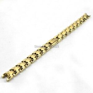 Image 4 - 8mm Pulseira T003209 Peças de Relógio Feminino tira de Ouro Sólido Entre O ouro Prata pulseira de aço Inoxidável strap