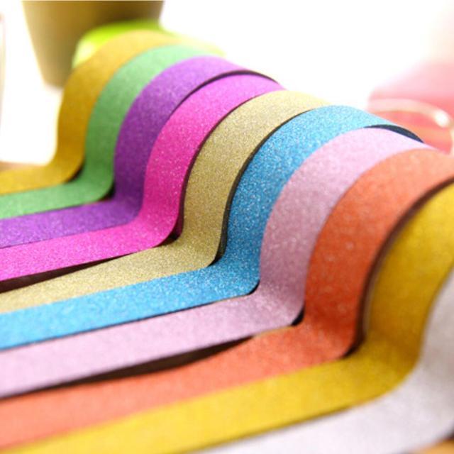 Japonais Artisanat Glitter Washi Papier Collant Mini Couleur Bande