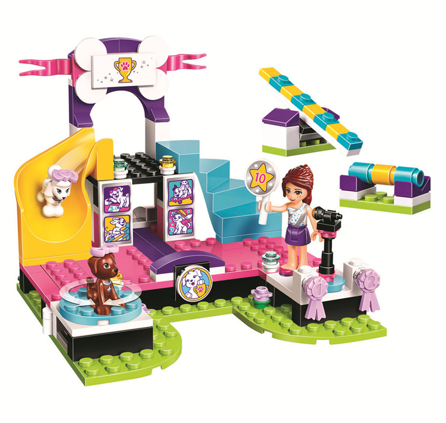 BELA Friends Series Puppy Championship Building Blocks Classic For Girl Kids Model Toys Marvel Compatible Legoe bela city police crook pursuit building blocks classic for girl boy kids model toys marvel compatible legoe