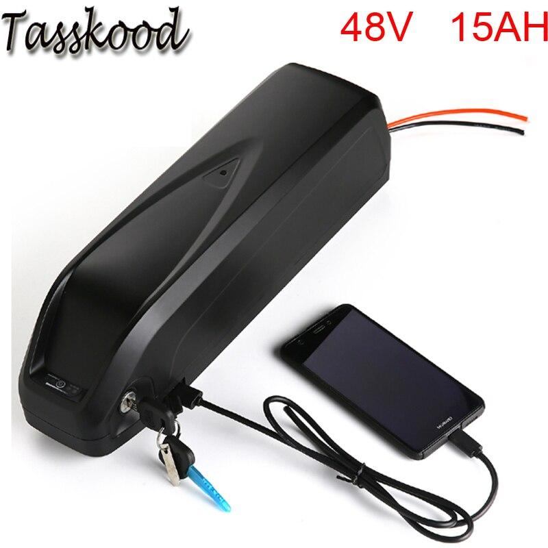 Hailong 48v batterie lithium-ion 48v 15ah 1000w bafang batterie de vélo électrique avec port USB et chargeur + bms pour cellule Samsung