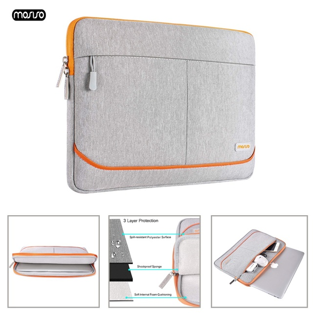 MOSISO Waterproof Laptop Sleeve Notebook Bag Pouch Case  for Macbook Air 13 Pro 13.3 Tablet protector Cover for Dell HP Asus