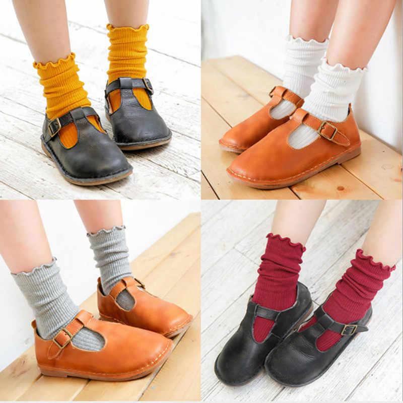 Новые хлопковые милые Harajuku ретро свободные фланцевые кружевные носки осень зима в трубке корейские Японские Женские девочки Разноцветные носки
