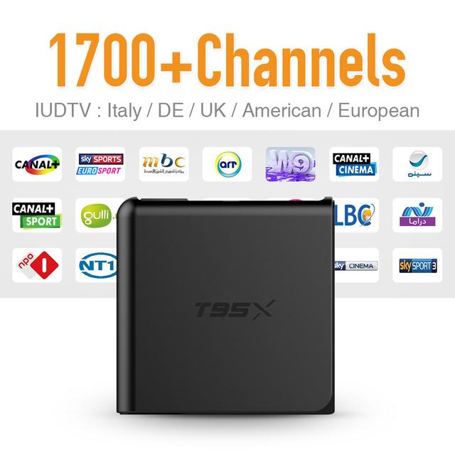 Europa Caixa De IPTV Android TV Caixa Céu Receptor IPTV & 1700 + Canais Sky Francês Turco Holanda Melhor Do Que MXV Android TV caixa
