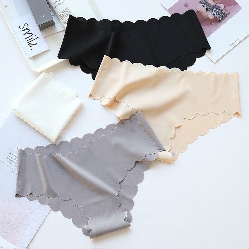 High Quality Sexy Seamless Contton Underwear Women Brand   Panties   Ice Silk Cool String Femme Female Briefs for Women