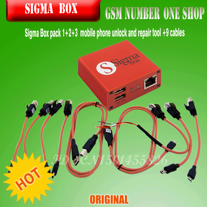 US $365 0 |2019 The Newest 100% Original Sigma box + Pack1+ Pack2 + Pack3  new update for huawei-in Telecom Parts from Cellphones & Telecommunications