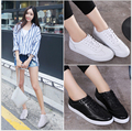 Fashion Flat loafers Genuine leather Women Casual Shoes board shoes