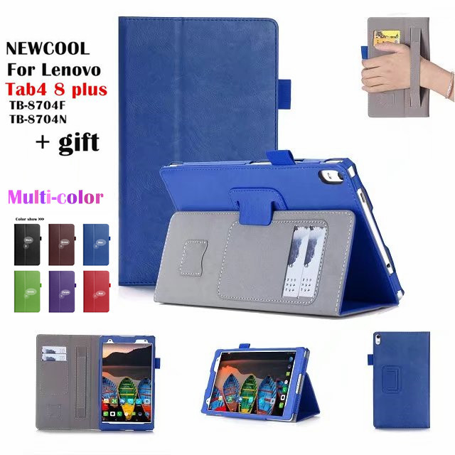 check out 3ed95 efe48 US $11.32 24% OFF|Case For Lenovo Tab 4 8 plus TB 8704x Leather case smart  Cover for Lenovo TAB4 8 plus TB 8704F TB 8704N tablet Case Flip Cover -in  ...
