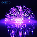 1x 2M 7ft 20Led Copper Wire Led String Lights, Christmas Tree Decorations, Battery Powered Led String Lights(Copper Color Wire)