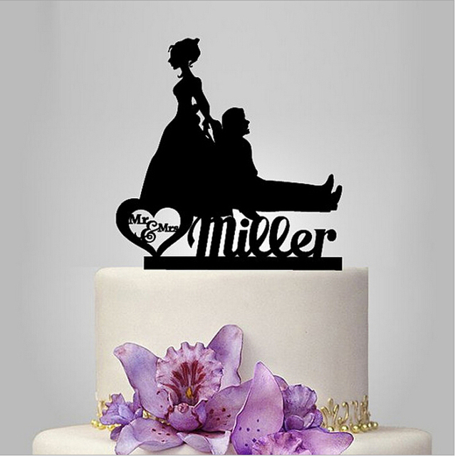 Personalised Runaway Groom Interesting Bride And Toppers Couple Figurine Funny Cake Topper For