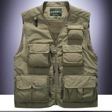 Men Outdoor Fly Fishing Vest Life Jackets Breathable Men Jacket Swimming Life Vest Safety Life-Saving Fishing Vest Pesca