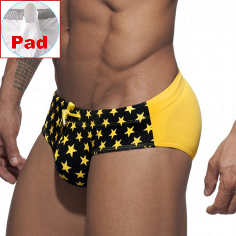 440c8aa8ee3d9 Push Up Pad Swimwear Pouch Mens Swim Briefs Men Swimming Trunks Man Shorts