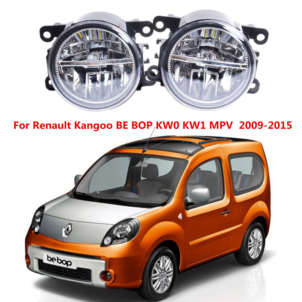 For Renault Kangoo BE BOP KW0 KW1 MPV  2009-2015 10W Front bumper LED fog lights Car styling drl led daytime running lamps [epcs love] art si scott eternal love limited edition poker card collection magic deck props