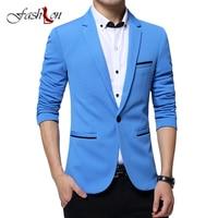 Fashion Men Blazer Casual Suit Slim Fit Suit Jacket Men Business Sping Autumn Costume Homme Terno